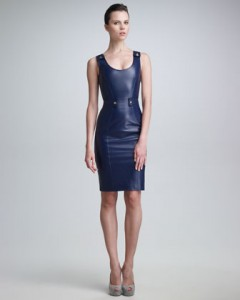 Leather Sheath Dress