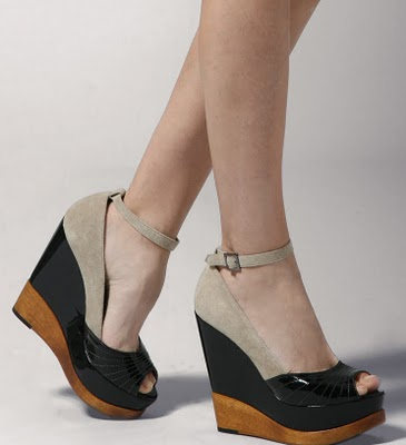 Wedge Peep Toe Heels | Tsaa Heel