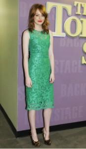 Emma Stone in Dolce & Gabbana dress