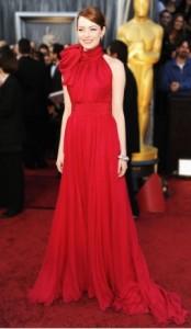 Emma Stone in Giambattista Valli dress
