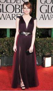 Emma Stone in Lanvin dress