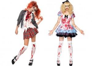 The horrifying school girl look