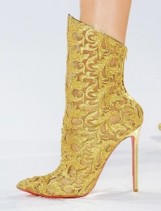 Vauthier Couture Gold Lace Booties