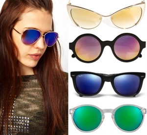 Mirrored sunglasses in colour