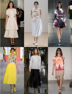 Pleated dresses and skirts