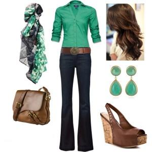 Emerald Green Look