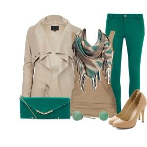 Emerald Green Mixed Look