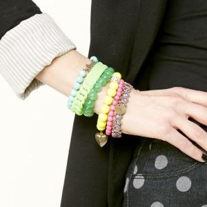 Layer the bracelets