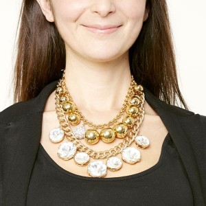 Layer the statement necklaces