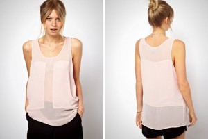 Easy synthetic sheer tops