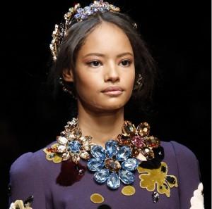 Crystals at Dolce & Gabbana