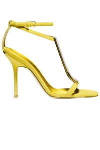 A pair of lemon coloured heels