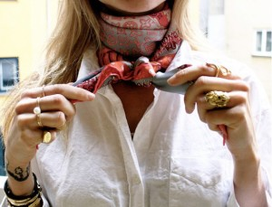 Add a scarf instead of statement neckpiece