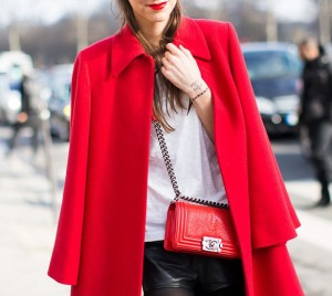 Match your lips and coat