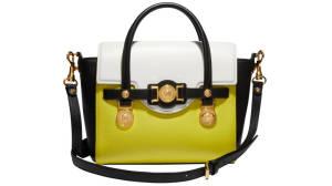 The lemon coloured handbag