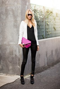 Wear faux leather pants