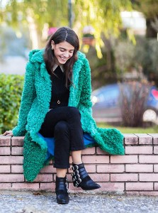 Go with a bright outerwear