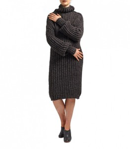 The long sweater dress
