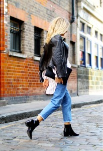 With ankle boots