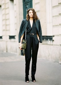 Fall for the black jumpsuit