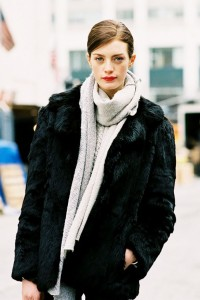 Love with faux fur coat