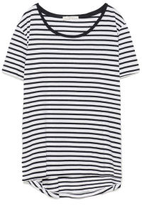 Simple with a striped t-shirt