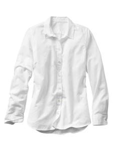 The perfect crisp white button down