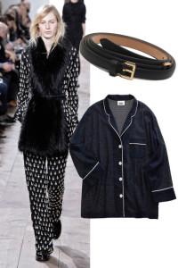 Fur coats with pyjamas