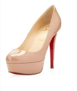 Round toe platform heels