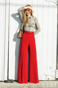 Go for wide legged pants